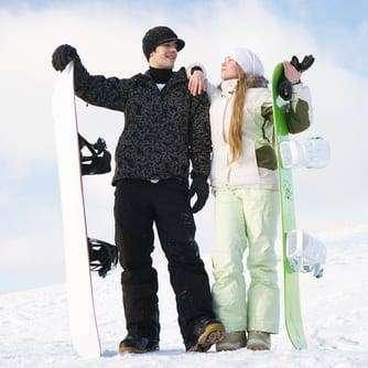 Podręczny bagaż snowboardzisty