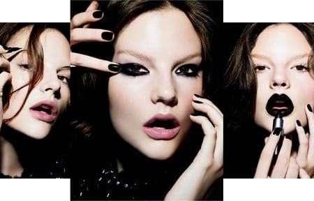 Czarny romantyzm w makijażu