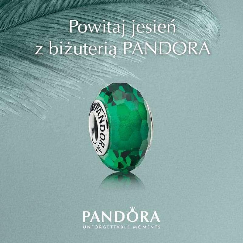 Pandora koralik jesien zielony