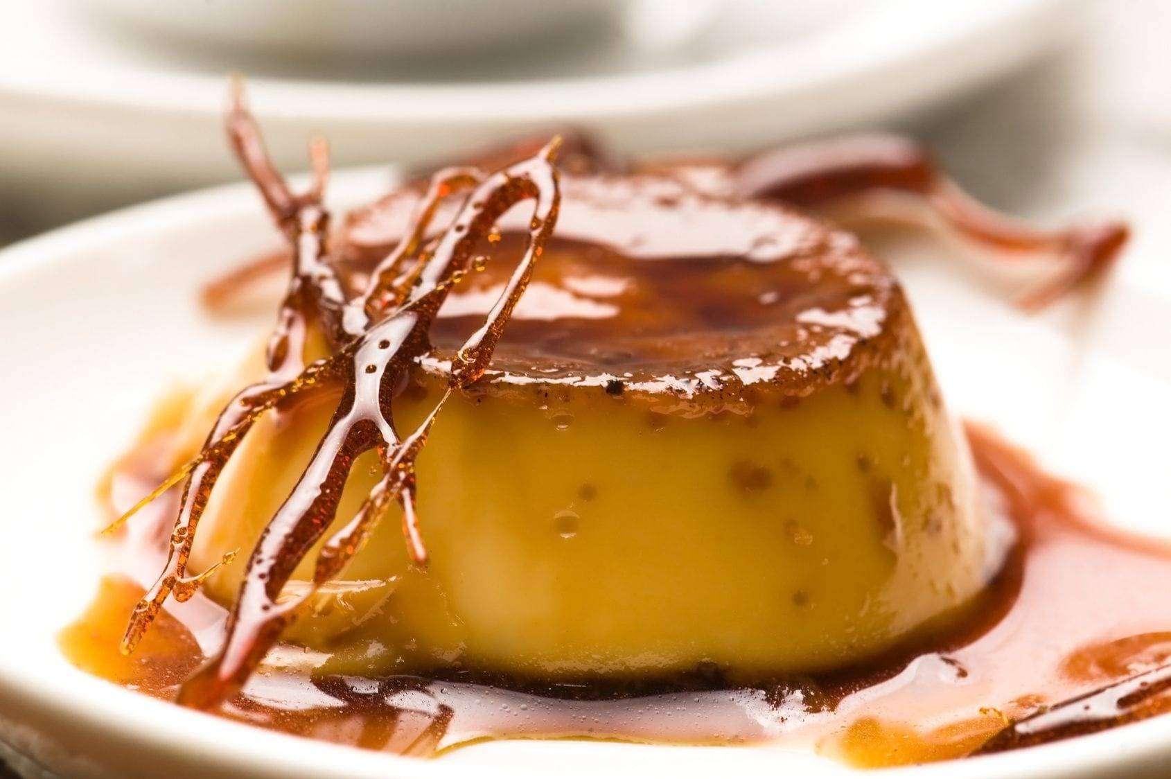 Delicious creme caramel dessert