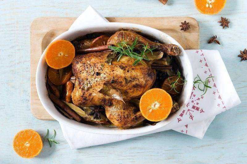 Kurczak korzenny na Boże Narodzeniez mandarynkami_H