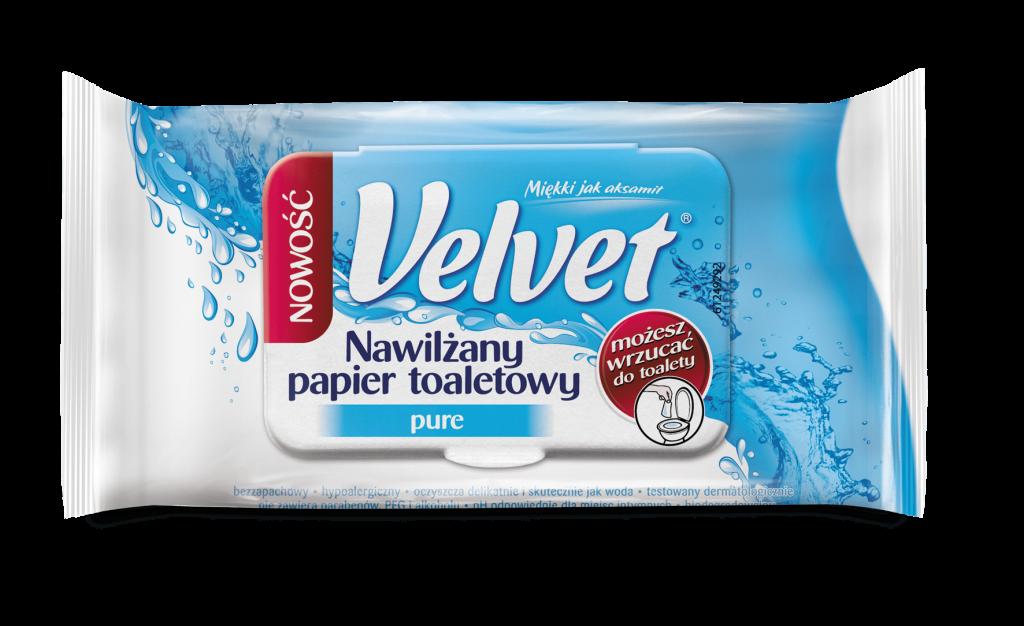 Nawilżany papier Velvet Pure