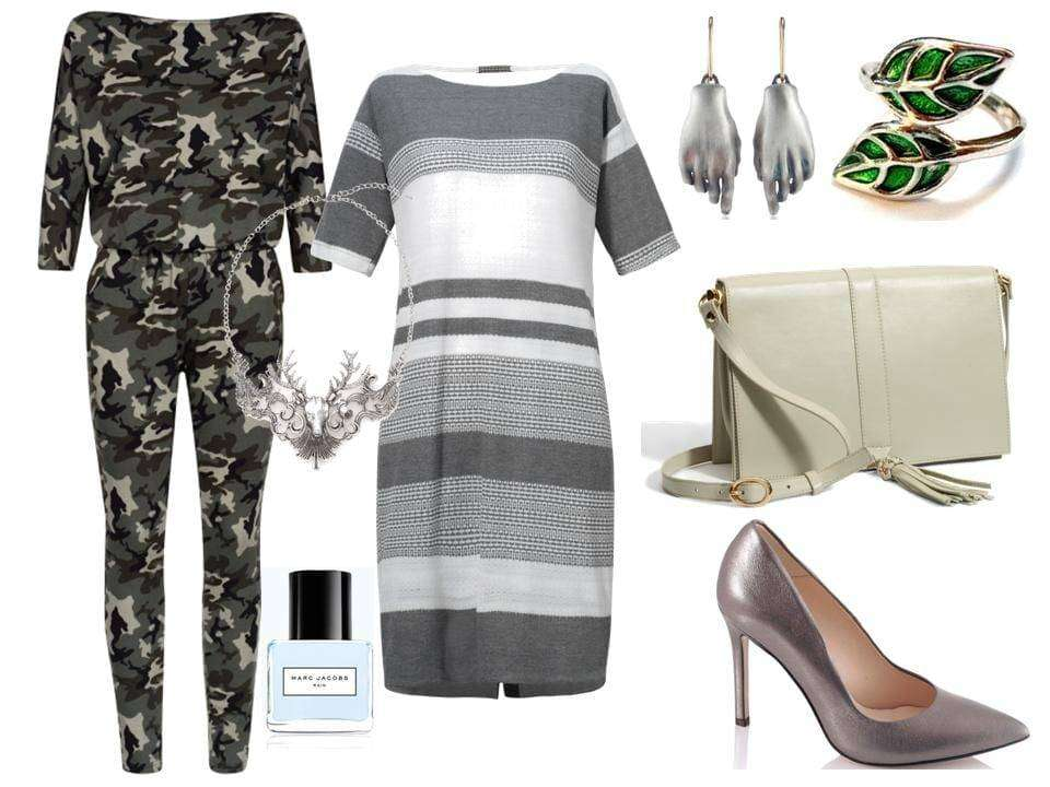 Kombinezon – Mosquito/mosquito.pl, sukienka – Midori Feminine Fashion/midori.pl, torebka – Boca/boca.pl, szpilki – Gianmarko/gianmarko.com.pl,