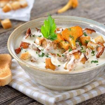 Zupa ze świeżych kurek
