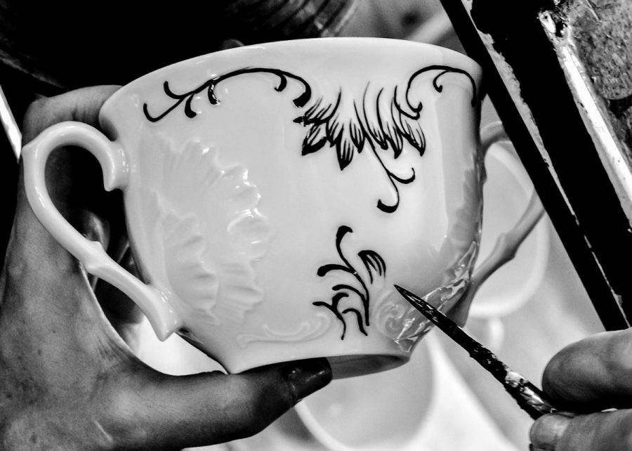 porcelanowe filiżanki