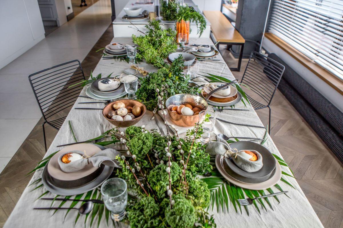 dekoracje na wielkanocny stół